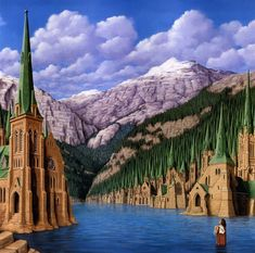 Rob Gonsalves ~ Optical Illusion Painting