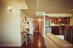 side view of very narrow desk | Salt Lake City Condo & Lofts for Sale | The Broadway Towers-19