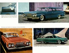 1961 Plymouth station wagons