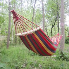 190*80cm Colorful Canvas Fabric Camping Hammock Garden Camping Swing Hanging Bed Outdoor Furniture Hamacas De Dormir Ramak At Any Cost Camping & Hiking