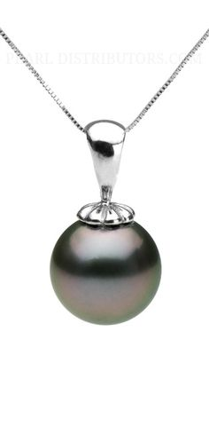 #Tahitian #pearl #pendant with white gold