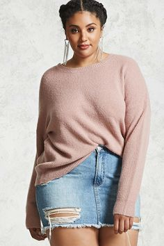b44dd6b994a14 Forever - A midweight brushed knit sweater featuring a round neckline