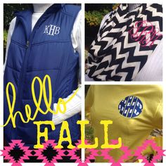 f5b3cfb8846 We have a large selection of personalized fall apparel and accessories at  SewVain.com! Log on today and check it out!  fall  fashion  chevronscarf ...