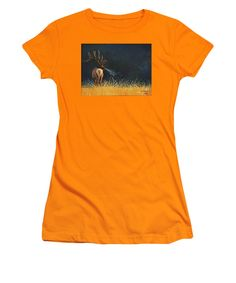 October Morning. Original Elk painting by Lee R Gardner printed onto your very own T-Shirt. Mens, women& children. Various styles and colors to choose from. Great gift for yourself or another wildlife enthusiast. Many other images available.