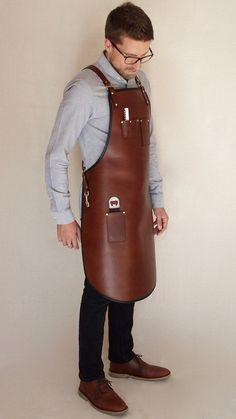 Leather Apron Heavy Duty Custom Apron Baristas Apron