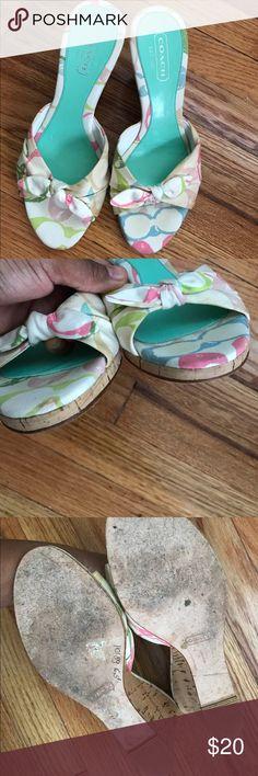 Coach sandals Authentic Coach wedge sandals Coach Shoes Sandals