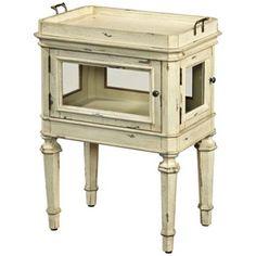 Clark Treasured Keepsake Antique White Accent Table - #3M737 | LampsPlus.com