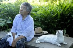 Special friends...Misao and Fukumaru the cat
