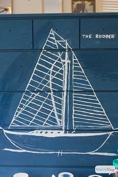 DecoArt Blog - Project - Maritime Blueprint Nautical Chest