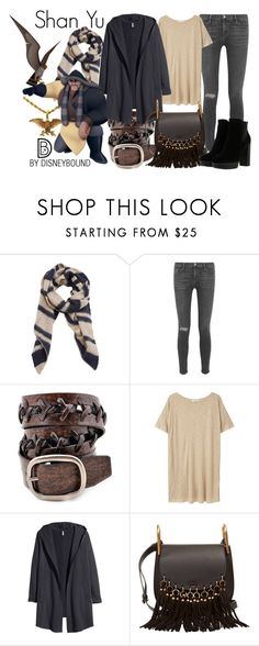 """Shan Yu"" by leslieakay ❤ liked on Polyvore featuring Violeta by Mango, SHAN, Frame Denim, Anzell, MANGO, H&M, Chloé and Hogan"