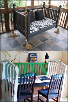 12 Wonderfully Repurposed Baby Cribs Kids grow… quickly! The cot, or crib if y. - Baby Cribs , 12 Wonderfully Repurposed Baby Cribs Kids grow… quickly! The cot, or crib if y. 12 Wonderfully Repurposed Baby Cribs Kids grow… quickly! The cot, or. Old Baby Cribs, Baby Crib Diy, Old Cribs, Baby Beds, Crib Makeover, Furniture Makeover, Refurbished Furniture, Repurposed Furniture, Furniture Projects