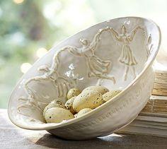 Nine Ladies Dancing Serve Bowl #potterybarn