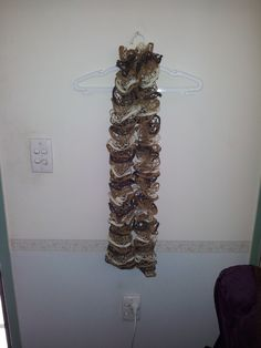 Chocolate, Caramel and Cream Ruffle Scarf by HecklesHaunt on Etsy