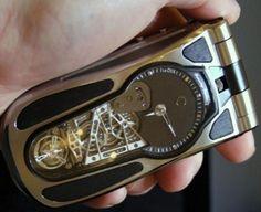 Steampunk Flip-phone Clock