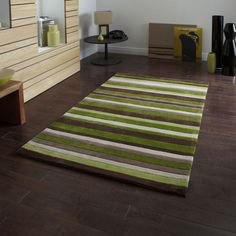 Modern-Large-Small-Acrylic-2cm-Thick-Brown-Green-Quality-Hong-Kong-Rugs
