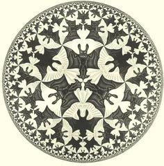 Escher is a neat way to incorporate bats.