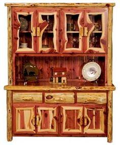 Aromatic Red Cedar Buffet Hutch - The Log Furniture Store