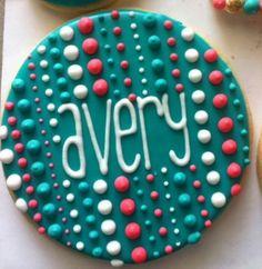 Haleycakes name cookies.  So cute!