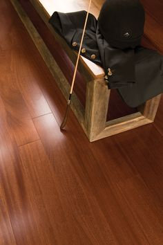 Mirage Floors, the world's finest and best hardwood floors. www.miragefloors.com #Mirage #Hardwood #Floor #Exotic #African #Mahogany #Brass
