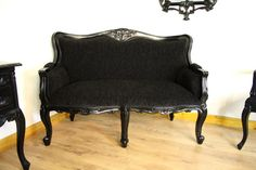 Victorian Black Couch