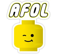 """AFOL by Customize My Minifig"" Stickers by ChilleeW 