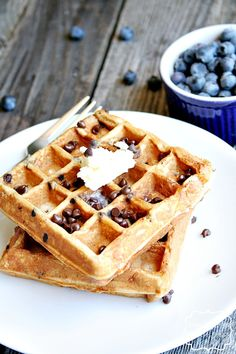 s'more waffles on MyRecipeMagic.com