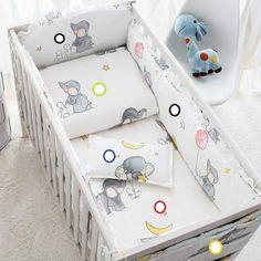 4bumper+sheet+duvet +pillow Energetic 7pcs Full Set Baby Bedding Kit Bed Around Cot Bumper Baby Cot Set Multi Sizes Bed Set Duvet Sheet, Pure White And Translucent