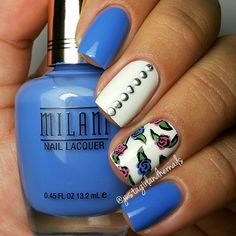 20 Blue Nail Art Ideas For Short Nails