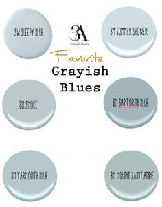 Favorite Grayish Blues Paint Colors Blue Gray
