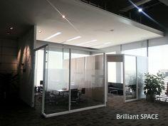 Glass System Wall (不上頂屏風)
