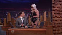 Lady Gaga on Jimmy Fallon's Tonight Show, 17 Feb 2014