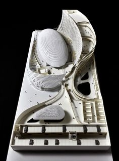 Image 68 of 90 from gallery of Our Readers Show Off Their Most Impressive Architectural Models. New Orleans Aquatic Center / Charles Weimer. Image courtesy of Charles Weimer Organic Architecture, Architecture Student, Futuristic Architecture, Concept Architecture, Architecture Details, Model Building, Building Design, Arch Model, Masterplan