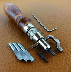 5 in 1 Leder Werkzeug Stitching Craft Hand Sewing Stitching Groover Kit Sets#J