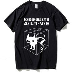 HanHent The Big Bang Theory Schrodinger's Cat T-shirts Men Swag Funny Cotton Short Sleeve Tshirts 2016 New Summer Style T shirt