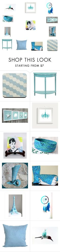 Soft Blue Home Decor Ideas by einder on Polyvore featuring interior, interiors, interior design, home, home decor, interior decorating, Convenience Concepts, Tiffany & Co. and vintage