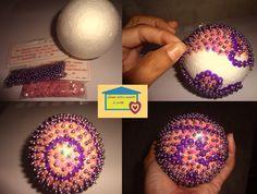 Casa com amor e arte: Bolas decorativas com bolas de isopor - passo a pa...