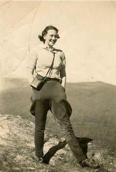 Elizabeth Hatcher Conner on an Explorers Club Outing, ca. late 1930s