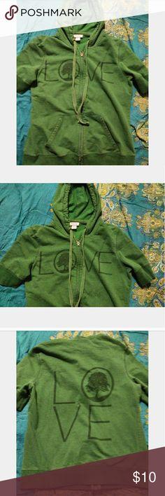 Mossimo short sleeve hoodie. Sz. L Really cute short sleeve hoodie. From target. Sz. L Mossimo Supply Co Tops Sweatshirts & Hoodies
