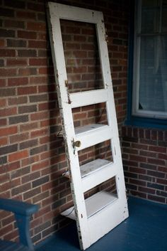 Vintage Door Repurposed Bookshelf A Door by TheDoorShelfFactory, $200.00
