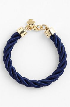 kate spade new york 'learn the ropes' cord bracelet // @Nordstrom