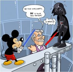 What are your thoughts about Disney buying Star Wars and planning to do 3 more m… What do you think of Disney if you buy Star Wars and plan to shoot three more movies? Star Wars Comics, Star Wars Witze, Star Wars Disney, Star Wars Meme, Disney Pixar, Disney Memes, Images Star Wars, Star Wars Pictures, Pixar Characters