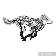 Wolf run silhouette Wolf, Keep Alive, Double Exposure, Tattoo Drawings, Moose Art, Silhouette, Models, Silhouettes, Wardrobes