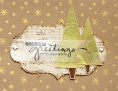 Seasons Greetings Elegant Trees - Scrapbook.com