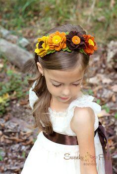 Fall Headband Wool Felt Flower Headband by SwankyPickleBoutique
