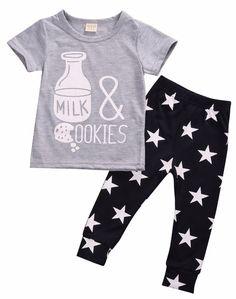 Milk & Cookies Baby Boy Set
