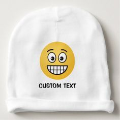#Grinning Face with Open Eyes Baby Beanie - #emoji #emojis #smiley #smilies