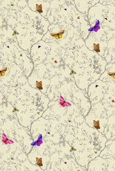 Timorous Beasties Wallcoverings - Butterflies. Frost.