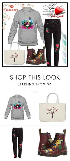 """""""SNAPMADE #3-VI"""" by nizaba-haskic ❤ liked on Polyvore featuring Dr. Martens"""