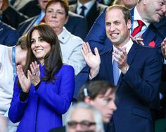 Kate Middleton and Prince William were all smiles as they cheered on England against Fiji at the Rugby World Cup.