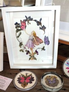Sue Fowler uses pressed flowers and lichen in her pictures.